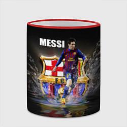 Кружка 3D Messi FCB цвета 3D-красный кант — фото 2
