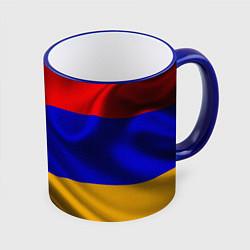 Кружка 3D Флаг Армения цвета 3D-синий кант — фото 1