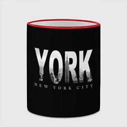 Кружка 3D New York City цвета 3D-красный кант — фото 2