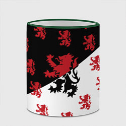 Кружка 3D Лев герба Нидерландов цвета 3D-зеленый кант — фото 2