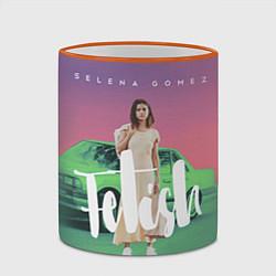 Кружка 3D Selena Gomez: Green Fetish цвета 3D-оранжевый кант — фото 2