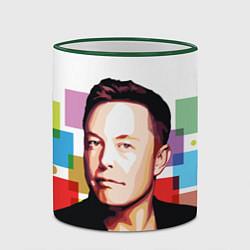 Кружка 3D Илон Маск цвета 3D-зеленый кант — фото 2