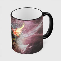 Кружка 3D Пожарный ангел цвета 3D-черный кант — фото 1