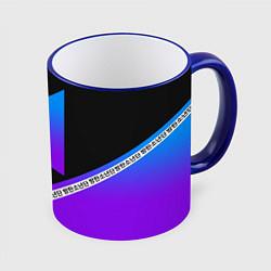 Кружка 3D BTS: Neon Symbol цвета 3D-синий кант — фото 1