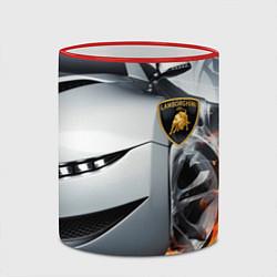 Кружка 3D Lamborghini цвета 3D-красный кант — фото 2