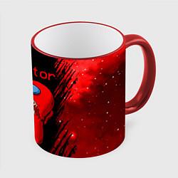 Кружка 3D AMONG US - MONSTER цвета 3D-красный кант — фото 1