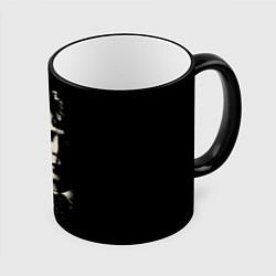Кружка 3D Есенин Ч/Б цвета 3D-черный кант — фото 1