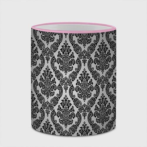 Кружка цветная Гламурный узор / 3D-Розовый кант – фото 2