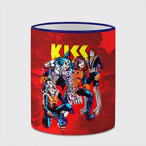 Кружка цветная KISS: Hot Blood / 3D-Синий кант – фото 2