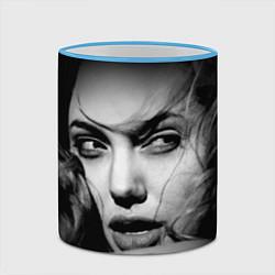 Кружка 3D Глаза Джоли цвета 3D-небесно-голубой кант — фото 2