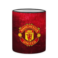 Кружка 3D Манчестер Юнайтед цвета 3D-черный кант — фото 2