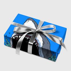 Бумага для упаковки Акулий рык цвета 3D-принт — фото 2