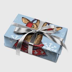 Бумага для упаковки Зимний олень цвета 3D — фото 2