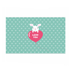 Бумага для упаковки Rabbit: Love you цвета 3D-принт — фото 1
