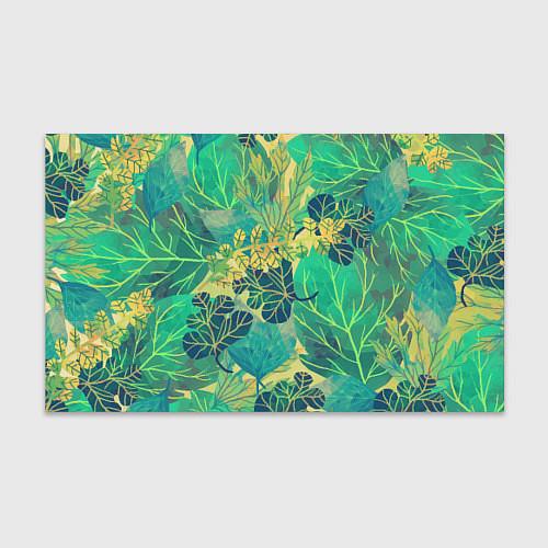 Бумага для упаковки Узор из листьев / 3D – фото 1