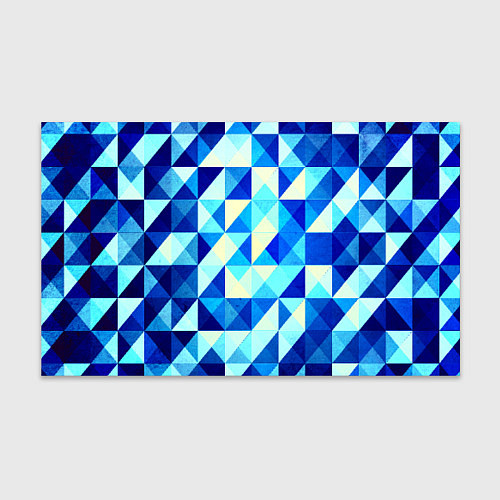 Бумага для упаковки Синяя геометрия / 3D – фото 1
