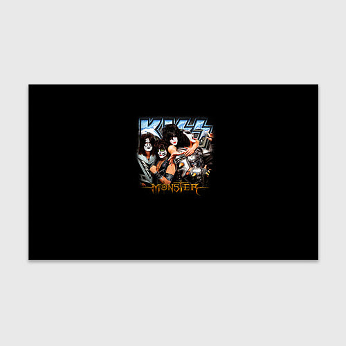 Бумага для упаковки Kiss Monster / 3D – фото 1