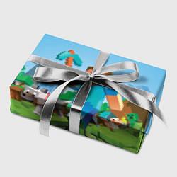 Бумага для упаковки Minecraft Summer цвета 3D — фото 2