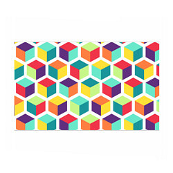 Бумага для упаковки 3D кубы цвета 3D — фото 1