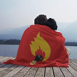 Плед флисовый Мир в Огне цвета 3D — фото 2