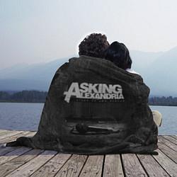 Плед флисовый Asking Alexandria: Black Micro цвета 3D-принт — фото 2