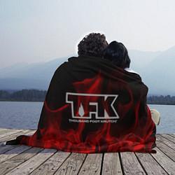 Плед флисовый Thousand Foot Krutch: Red Flame цвета 3D — фото 2