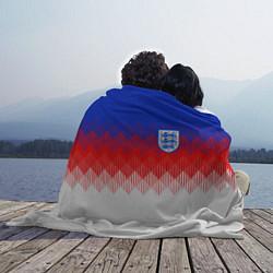 Плед флисовый Сборная Англии: Тренировочная ЧМ-2018 цвета 3D-принт — фото 2
