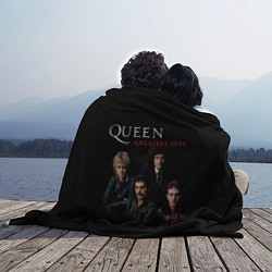 Плед флисовый Queen: Greatests Hits цвета 3D-принт — фото 2