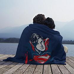 Плед флисовый Superman цвета 3D-принт — фото 2