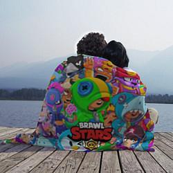 Плед флисовый BRAWL STARS LEON цвета 3D-принт — фото 2