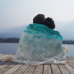 Плед флисовый Берег цвета 3D-принт — фото 2
