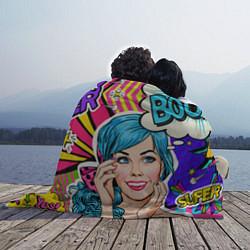 Плед флисовый Pop art цвета 3D-принт — фото 2