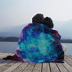 Плед флисовый Голубая вселенная цвета 3D — фото 2