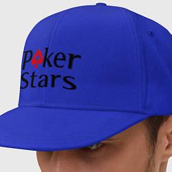 Кепка-снепбек Poker Stars цвета синий — фото 1
