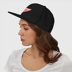 Кепка-снепбек Detroit Red Wings цвета черный — фото 2
