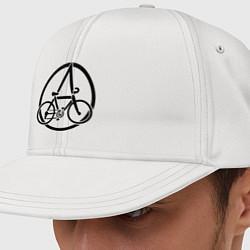 Кепка-снепбек Anarchy Bike цвета белый — фото 1