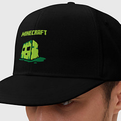 Кепка-снепбек Minecraft Creeper цвета черный — фото 1