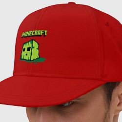 Кепка-снепбек Minecraft Creeper цвета красный — фото 1