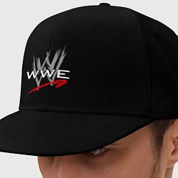Кепка-снепбек WWE Fight цвета черный — фото 1