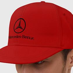 Кепка-снепбек Logo Mercedes-Benz цвета красный — фото 1