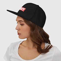 Кепка-снепбек OBEY Logo цвета черный — фото 2