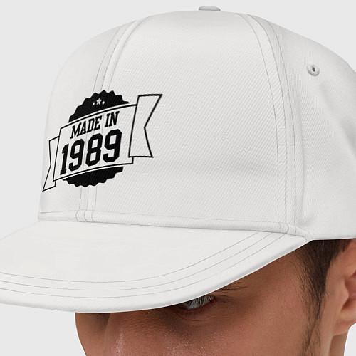 Кепка снепбек Made in 1989 / Белый – фото 1