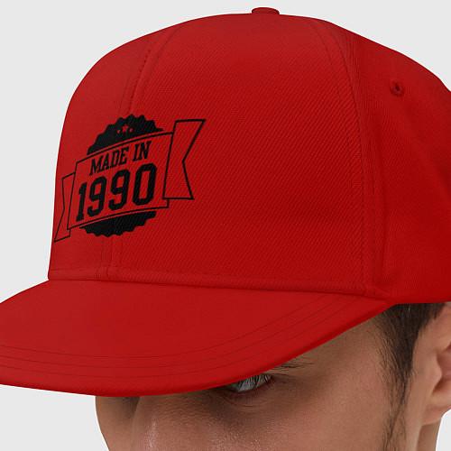 Кепка снепбек Made in 1990 / Красный – фото 1