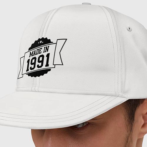 Кепка снепбек Made in 1991 / Белый – фото 1