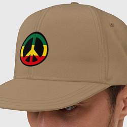 Кепка-снепбек Peace Symbol цвета миндальный — фото 1
