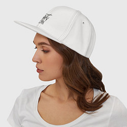 Кепка-снепбек Coven цвета белый — фото 2