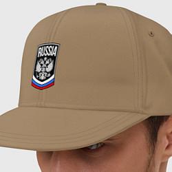 Кепка-снепбек Russia цвета миндальный — фото 1