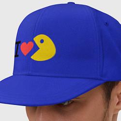 Кепка-снепбек I love Packman цвета синий — фото 1