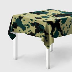 Скатерть для стола Камуфляж пиксельный: зеленый/черный цвета 3D — фото 2