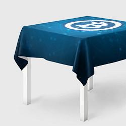 Скатерть для стола Bitcoin Blue цвета 3D — фото 2